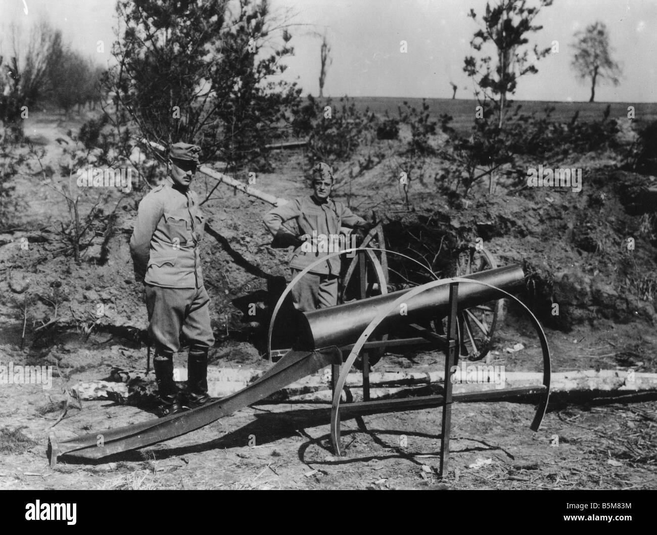 Dummy artillery Austrian army Photo History World War I Dummy artillery of the Austrian army Photo no location or - Stock Image