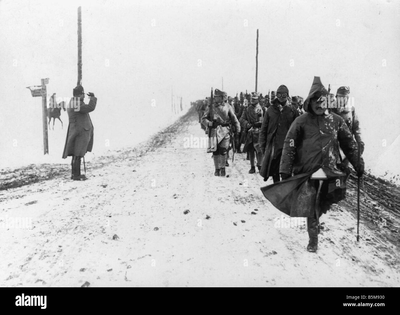 1915 History World War I Eastern Front Austrain advance in Russian Poland Photo winter 1915 16 - Stock Image