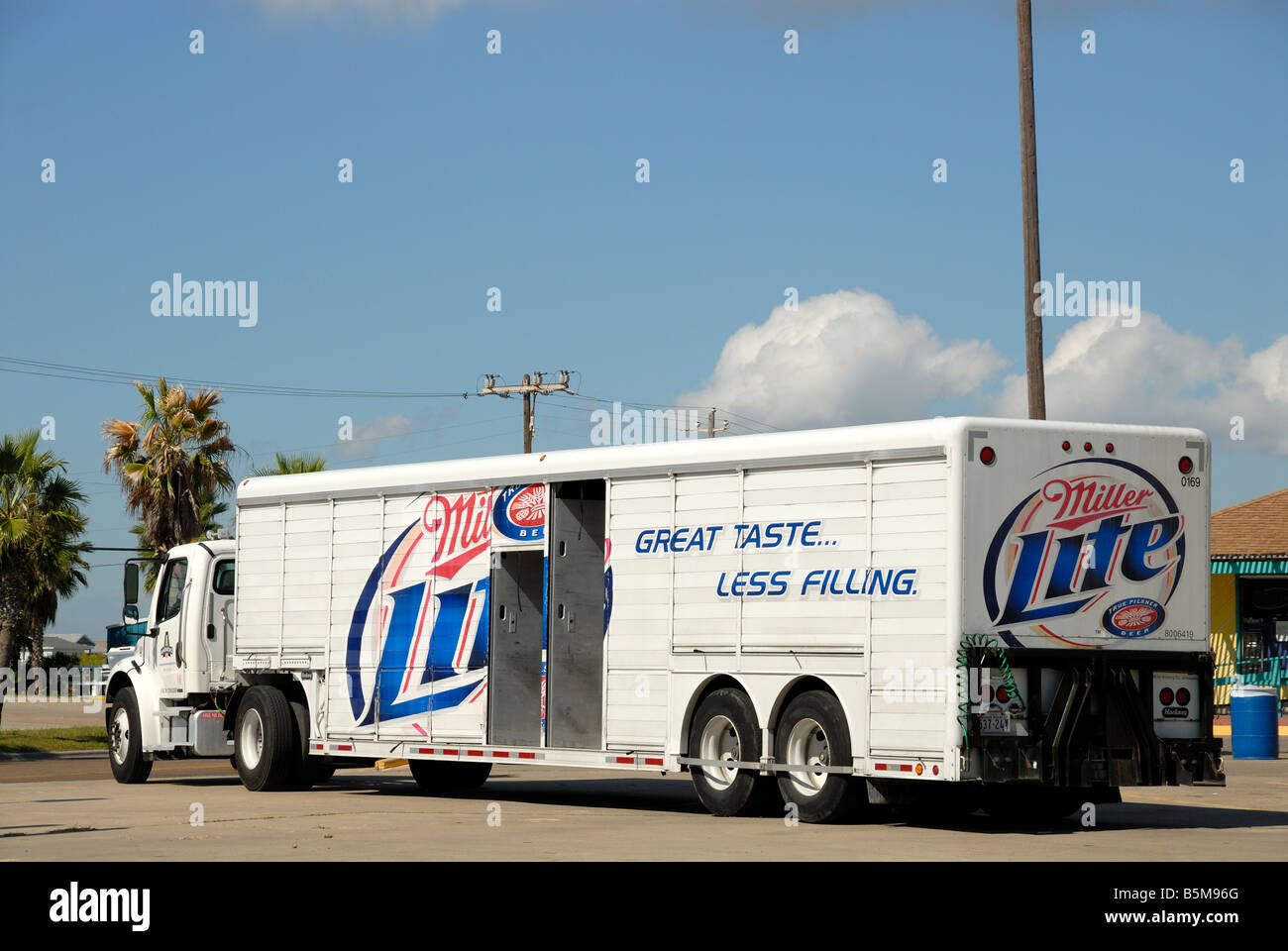 Miller Lite Truck in south Texas USA - Stock Image