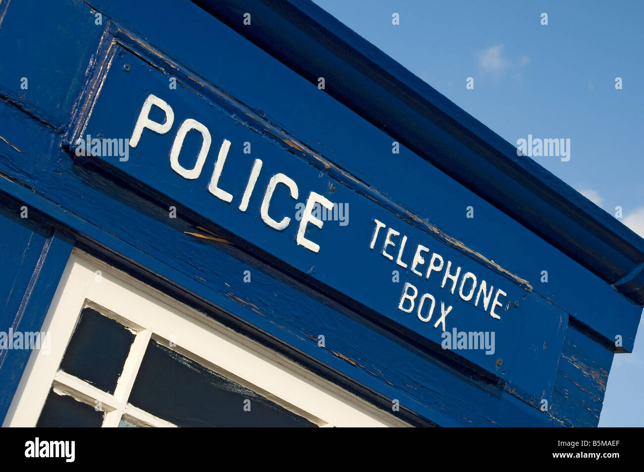 Old police telephone box Scarborough North Yorkshire England UK United Kingdom GB Great Britain - Stock Image