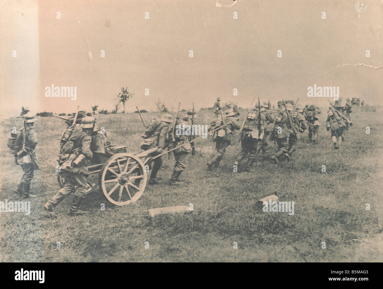 2 G55 W1 1918 33 Battles in the Champagne Photo History First World War 1914 18 Western front Battles in the Champagne - Stock Image