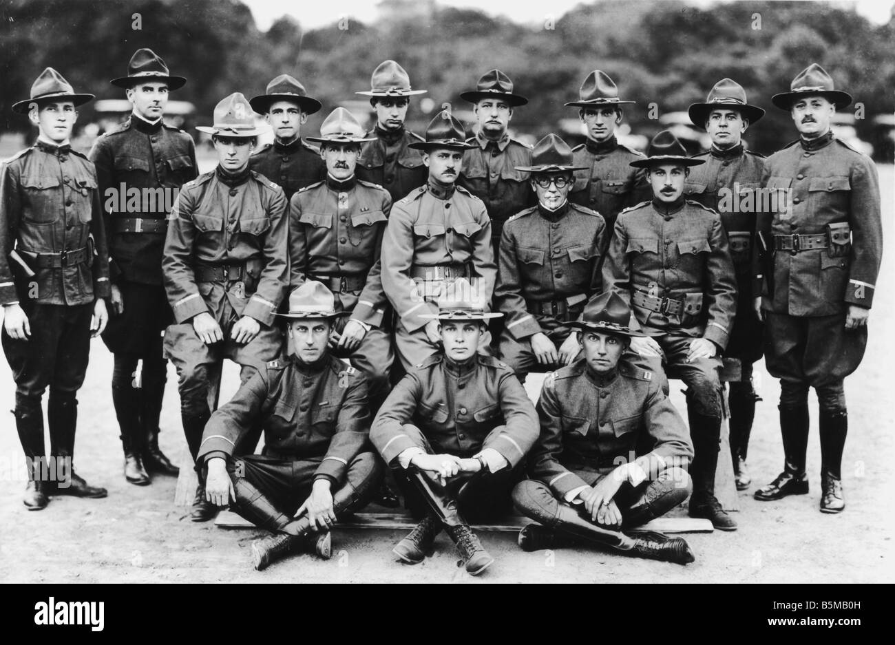 2 M70 U1 1918 5 E USA Infantry officers Photo 1918 Military countries USA Group photo Officers of the Morristown - Stock Image