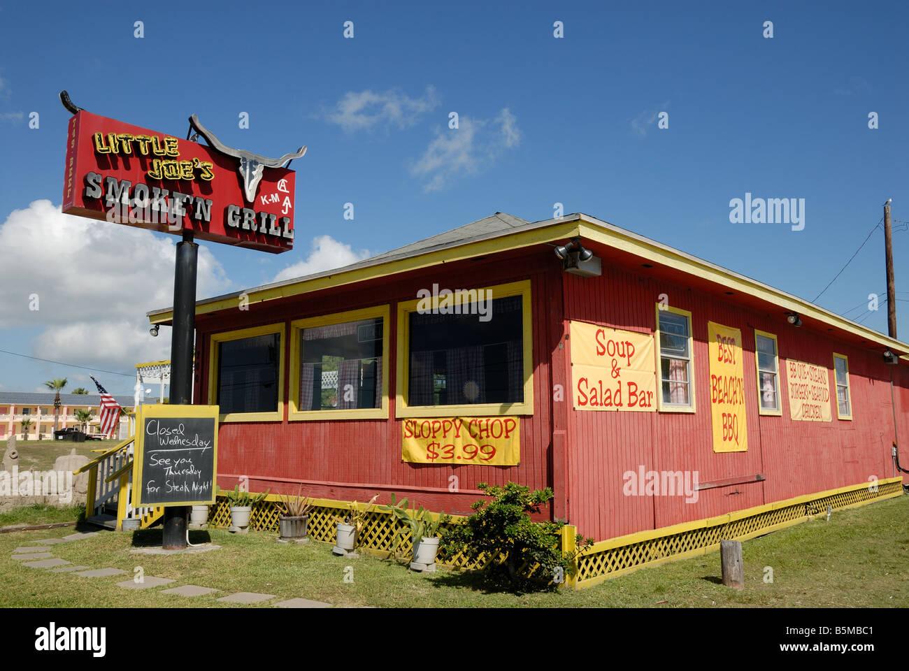 Restaurant In Port Aransas South Texas Usa Stock Photo