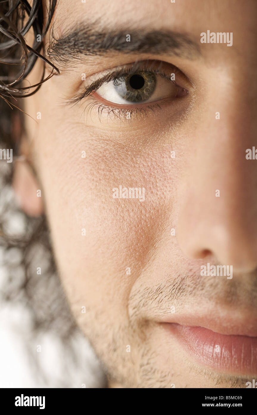 A man's face - Stock Image