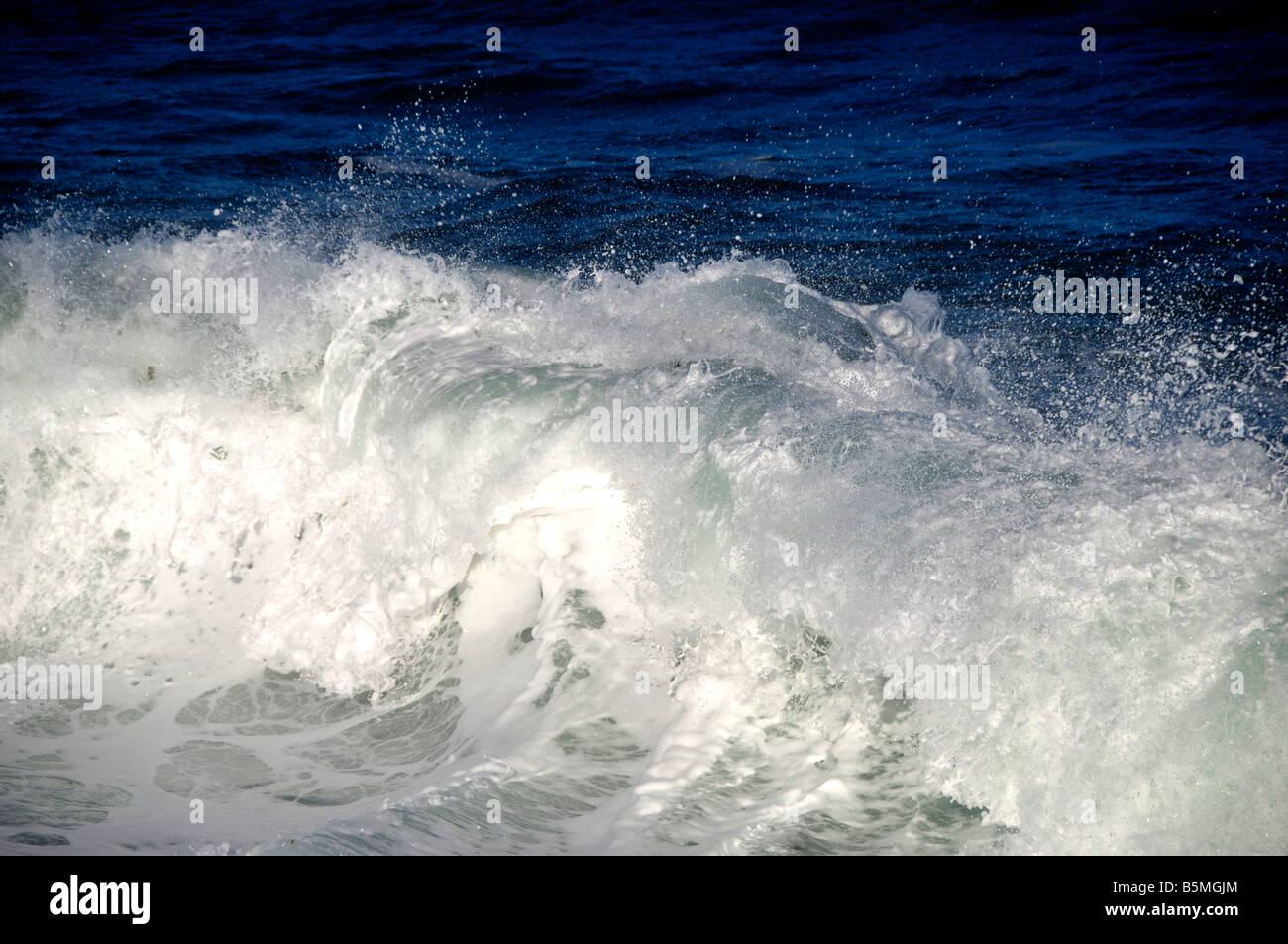 sea waves rough water wind detail Stock Photo