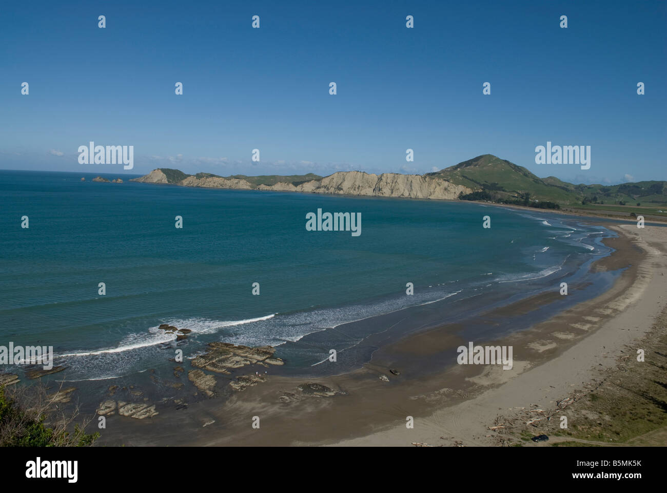 Tolaga Bay beach on the east coast of the North island in New-Zealand. - Stock Image