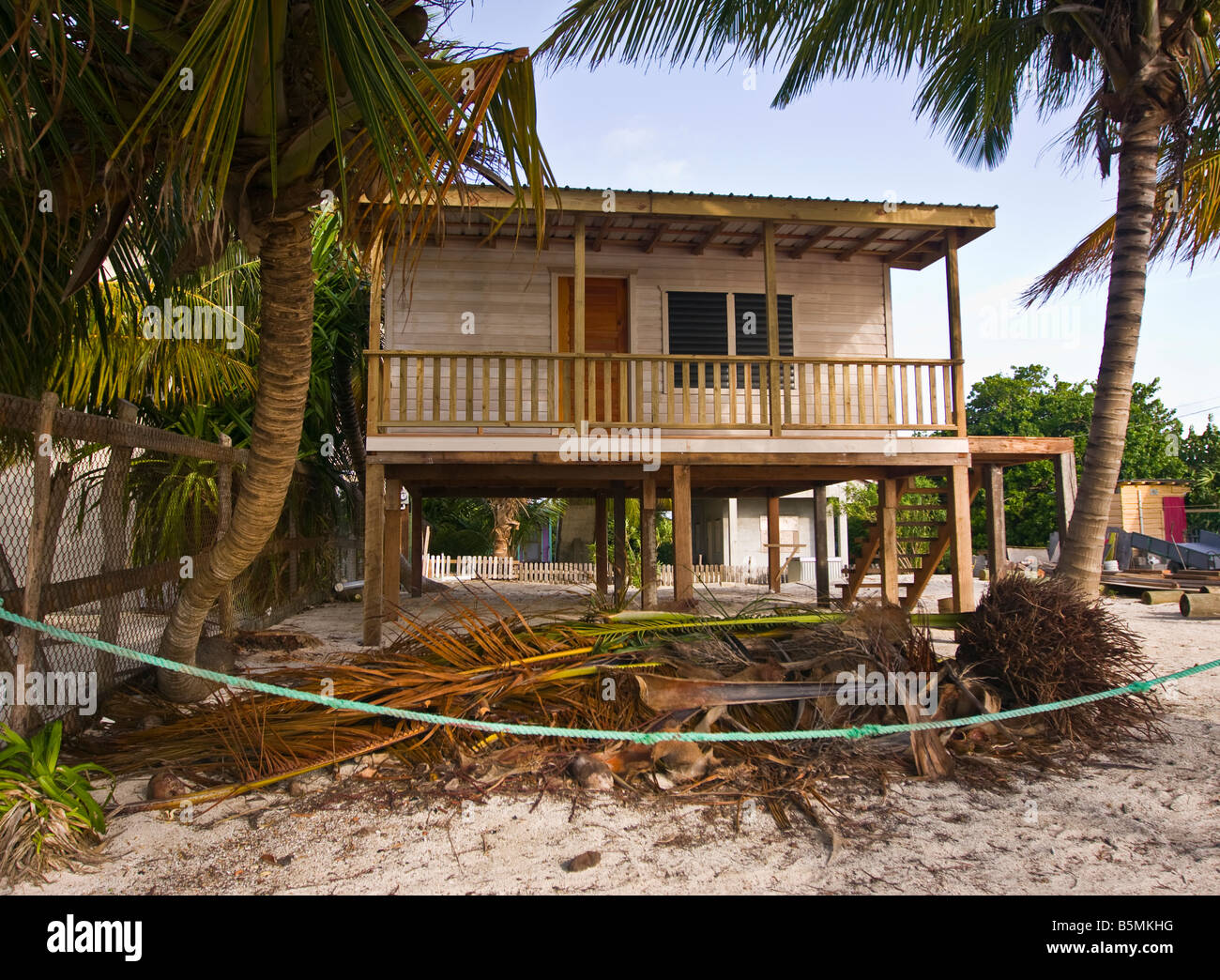 CAYE CAULKER BELIZE Traditional Wooden House On Stilts On The Beach