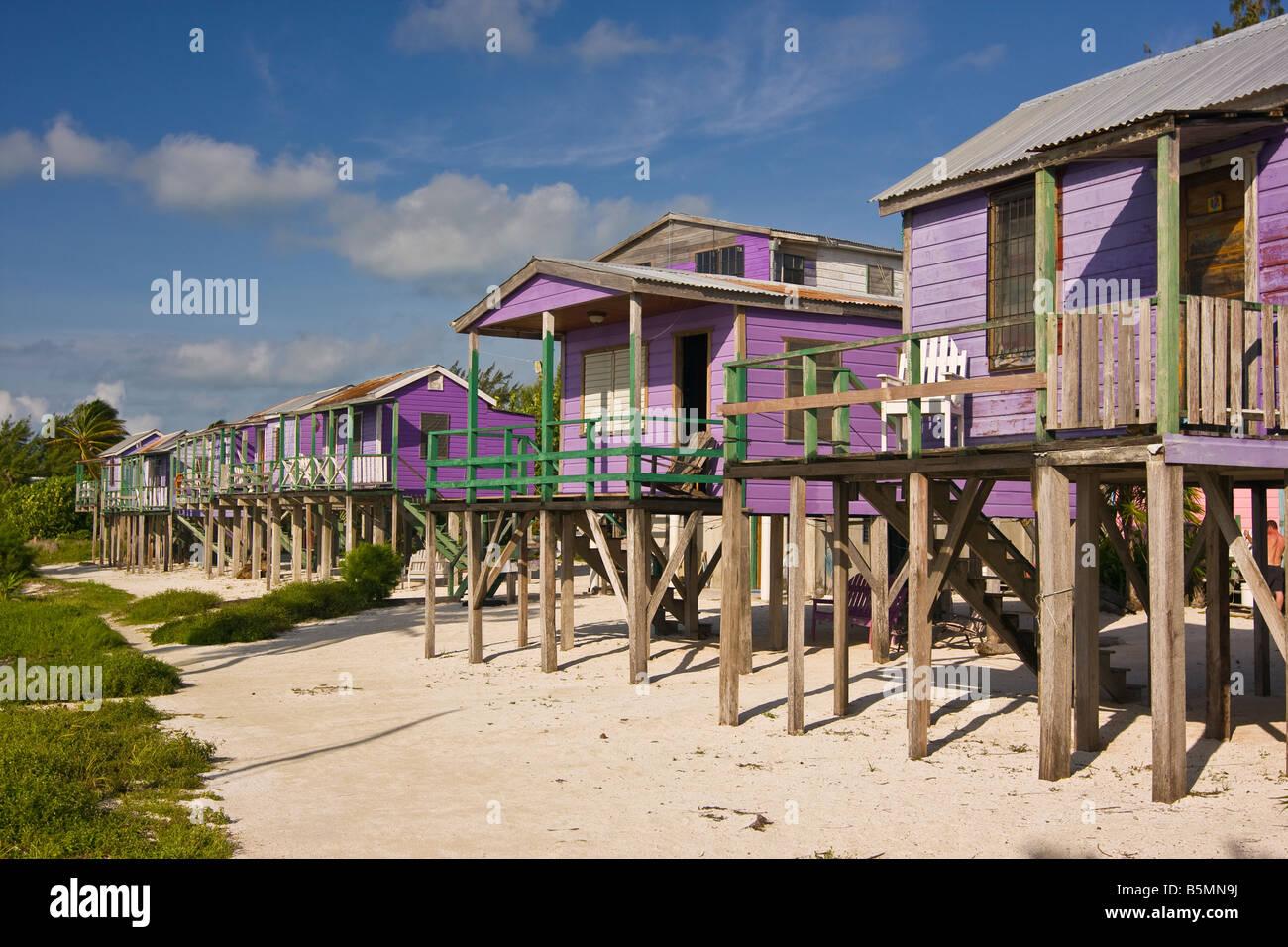 CAYE CAULKER BELIZE Ignacio's Beach Cabins - Stock Image