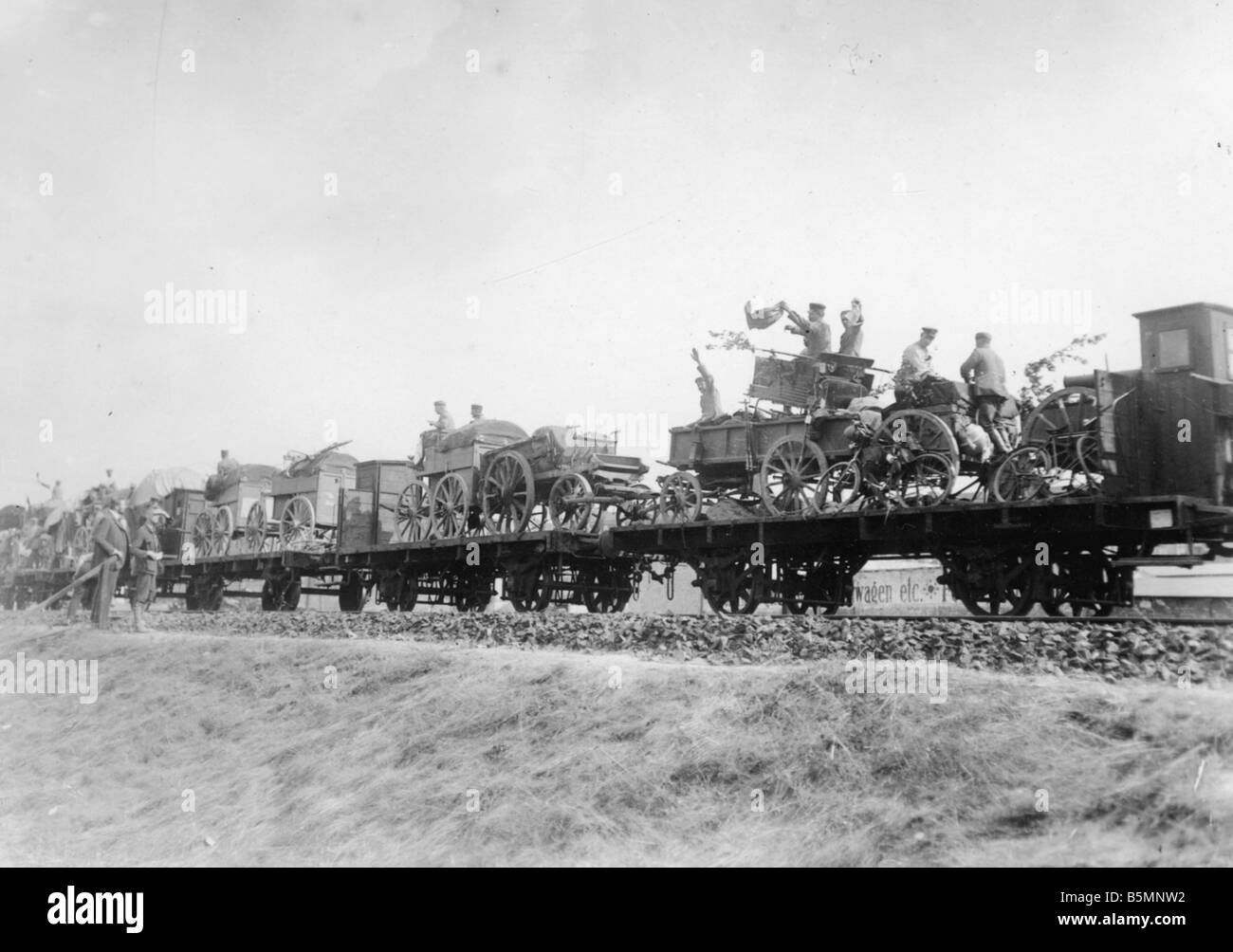 8 1914 8 0 A1 German weapons Berlin 1914 World War I 1914 18 Berlin Troop transport at a Berlin goods station Equipment - Stock Image