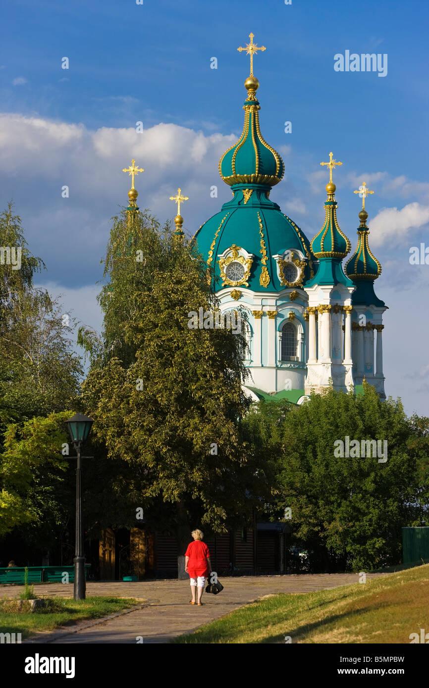 Saint Andrews Church, Kiev, Ukraine, Ukrainia - Stock Image