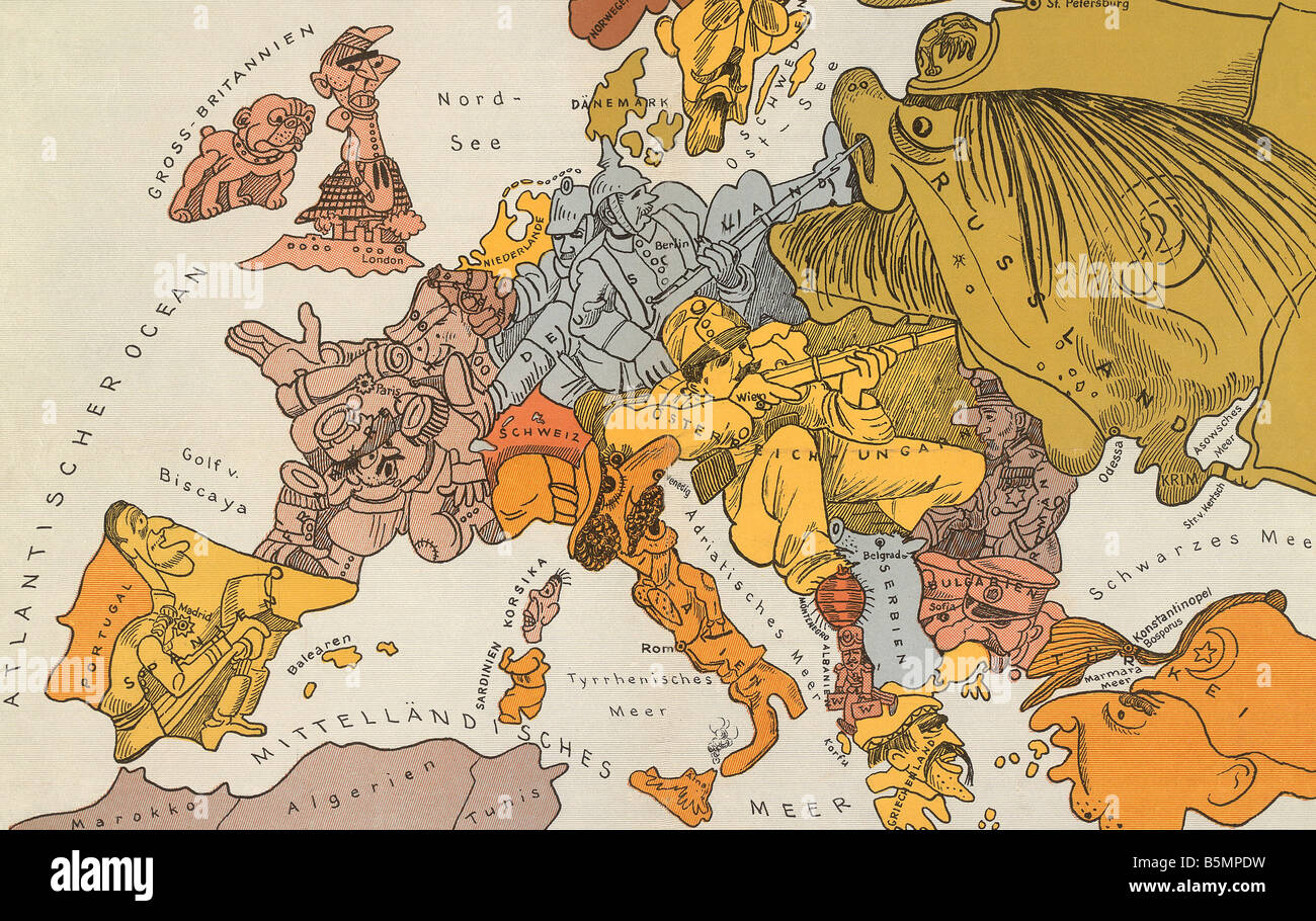 A Map Of Europe In 1914.Map Europe 1914 Stock Photos Map Europe 1914 Stock Images Alamy