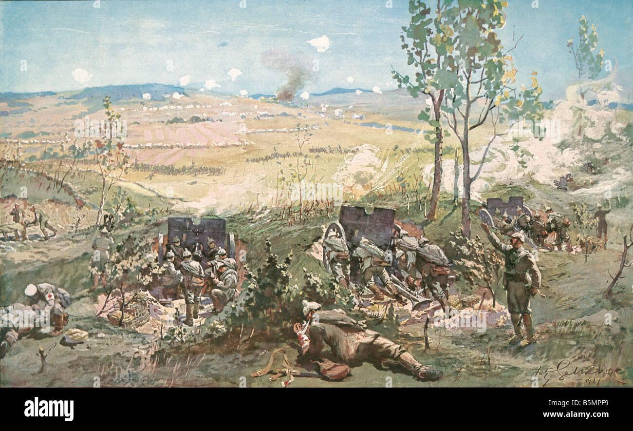 9 1914 9 0 A2 Battles of Aisne 1914 Gehrke World War 1 1914 18 Western Front Liberation battles at the Aisne August - Stock Image