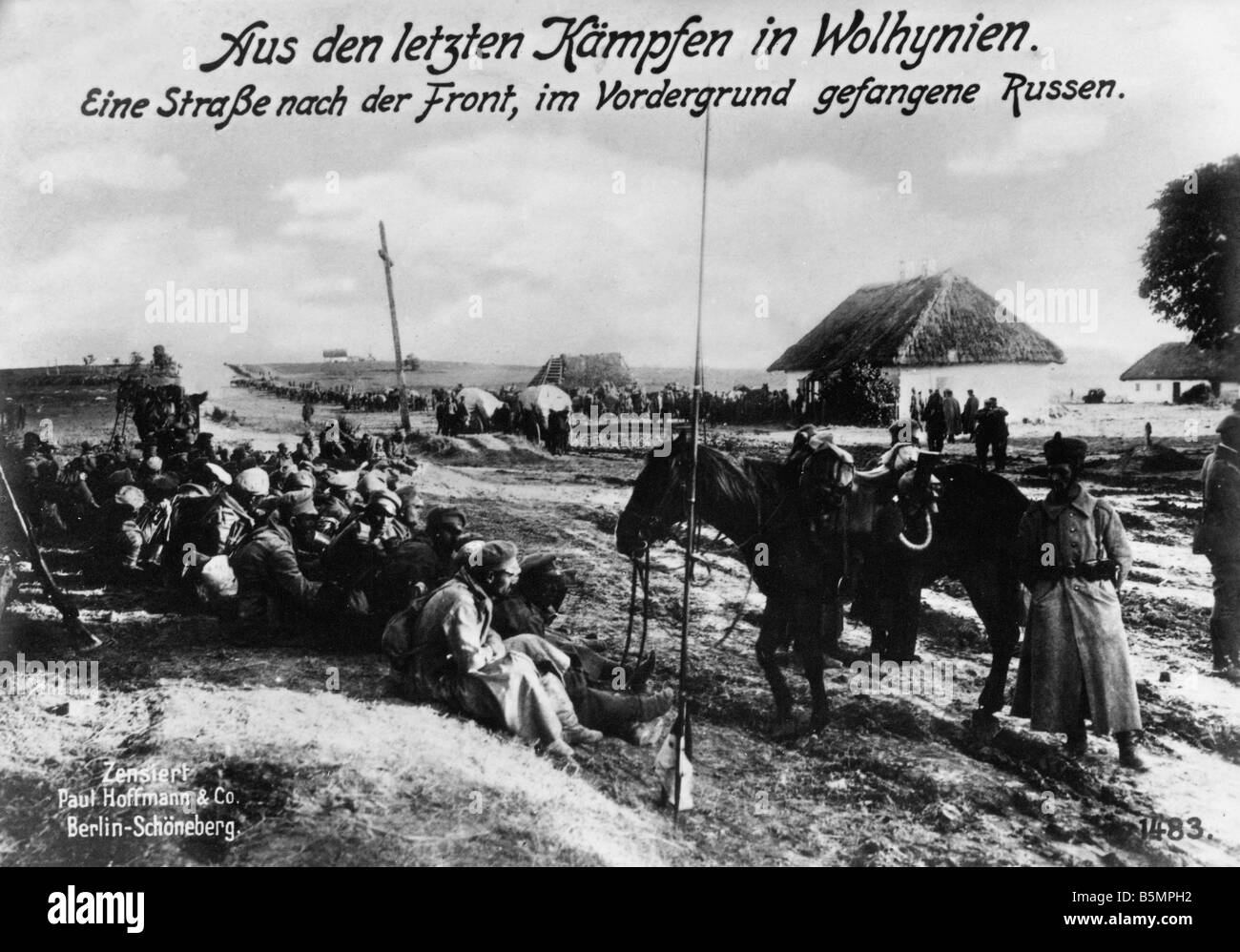 9 1915 8 0 A1 E East Fr Battle in Wolhynien Photo World War 1 Eastern Front Battle in Wolhynien Sout east Poland - Stock Image