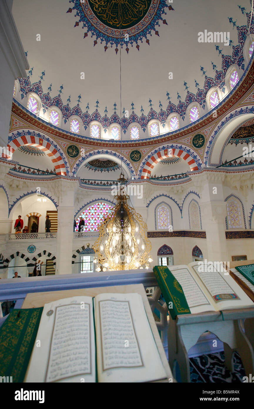 Quran in the Sehitlik Mosque, Berlin, Germany - Stock Image