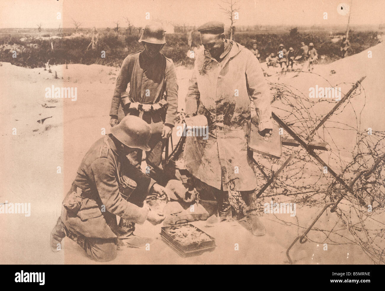 9 1918 5 29 A1 9 E WW1 West Fr Ger sold b Essen Photo World War 1 Western Front German major offensive March July - Stock Image