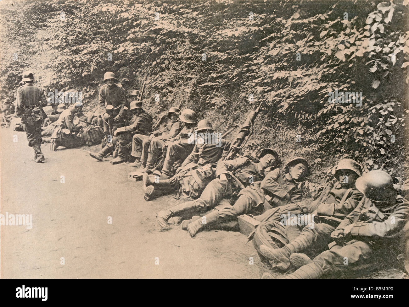 9 1918 6 9 A1 2 E WW1 West Fr Ger troops in Rast Photo World War 1 Western Front German major offensive March July - Stock Image