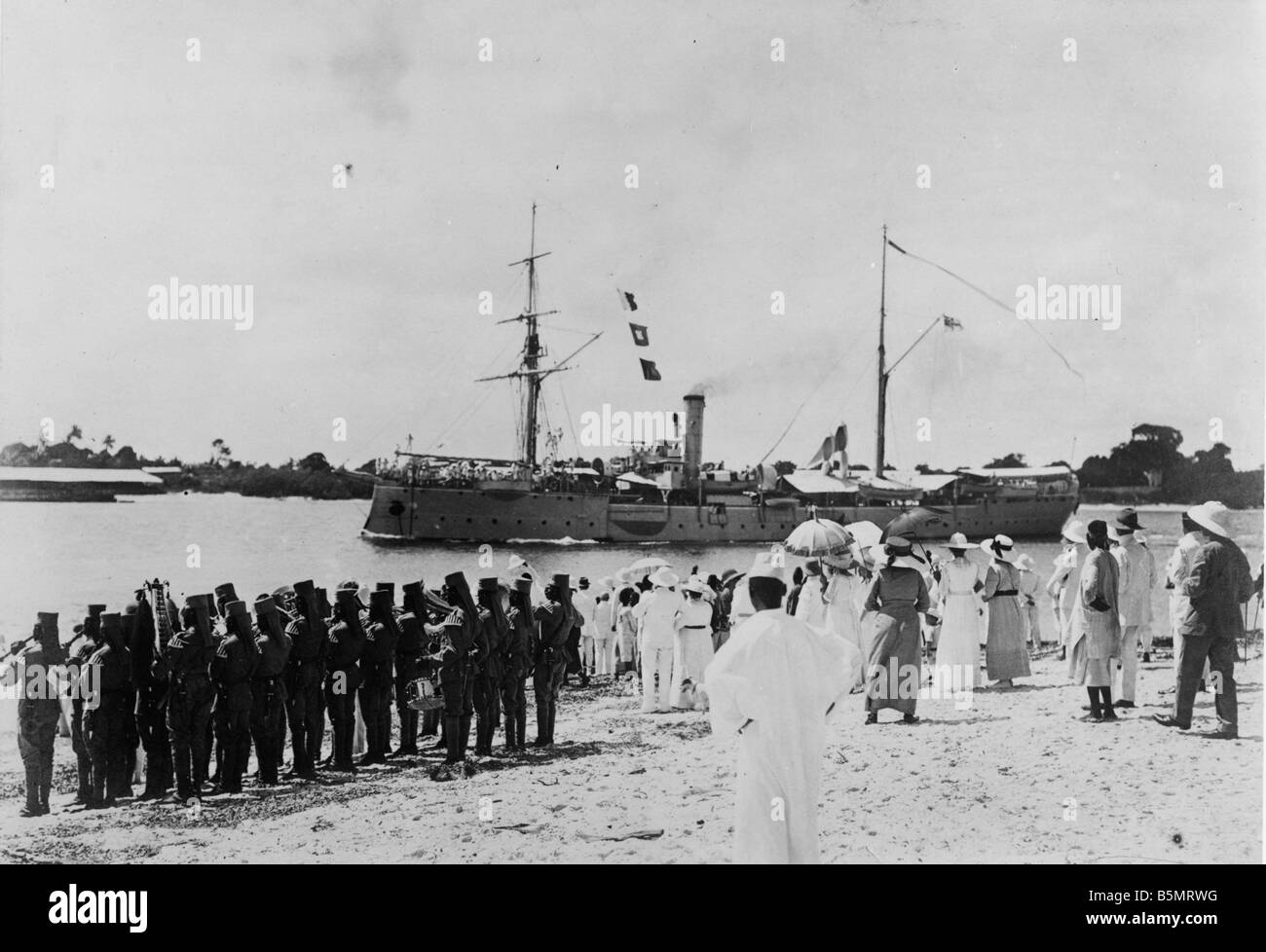 9AF 1914 0 0 A8 1 E S M S Seeadler Dar es Salaam Photo German East Afica today Tanzania as German colony 1884 1920 - Stock Image