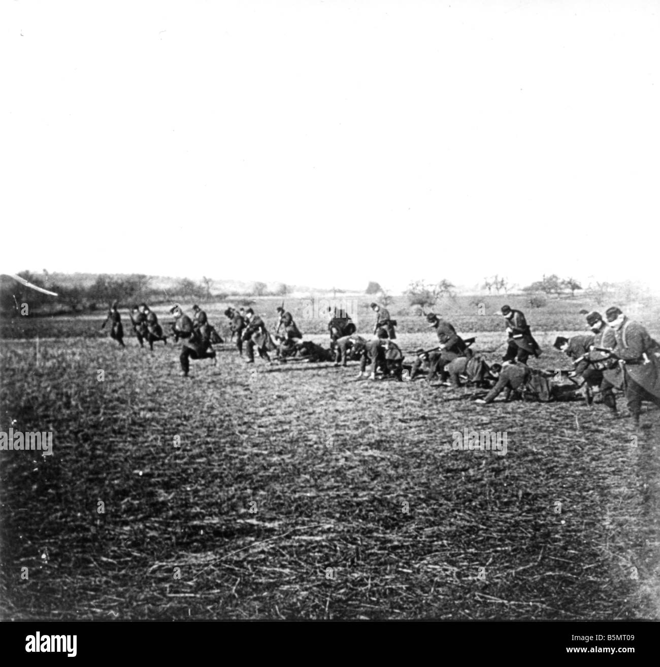 9FK 1914 9 5 A2 E The Marne Sept 1914 French assault World War I 1914 18 France Battle of the Marne 5th 12th Sept - Stock Image