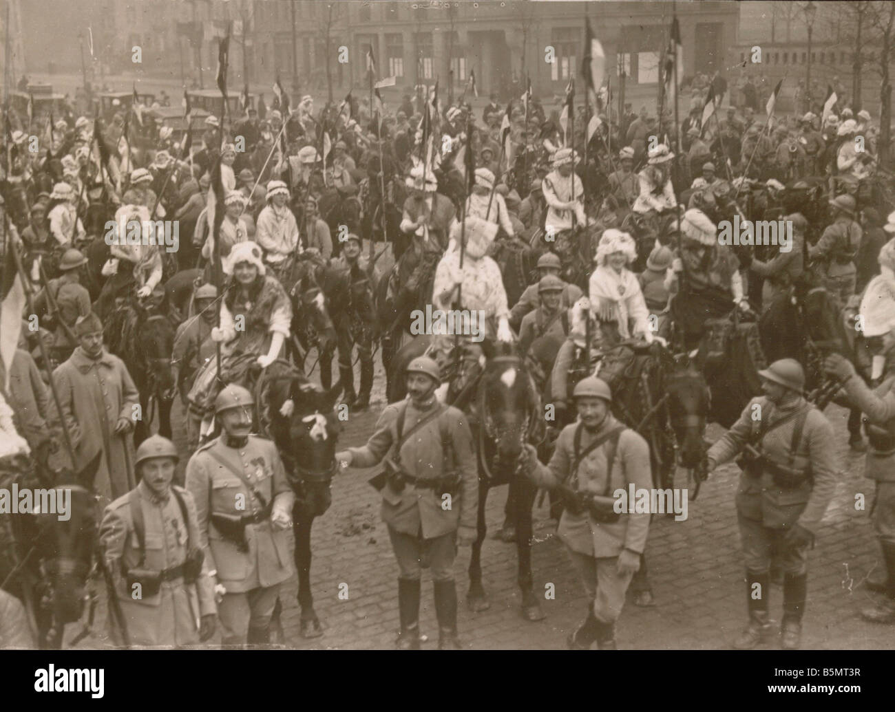 9FK 1918 12 0 A1 E Metz 1918 Parade of liberation World War 1 1914 18 End of War Metz December 1918 After the amisti - Stock Image