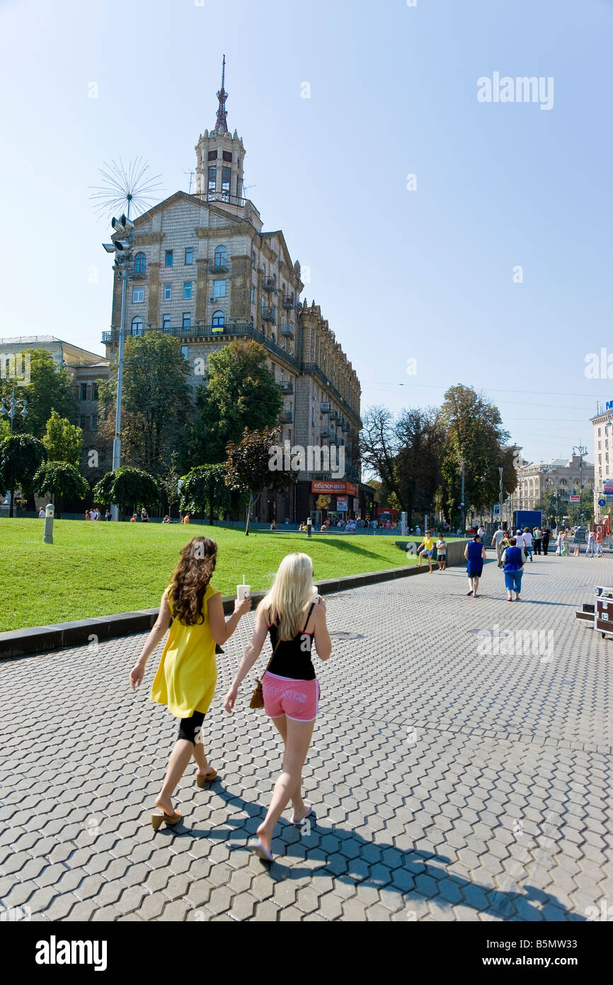 Maidan Nezalezhnosti, Independence Square, Kiev, Ukraine - Stock Image