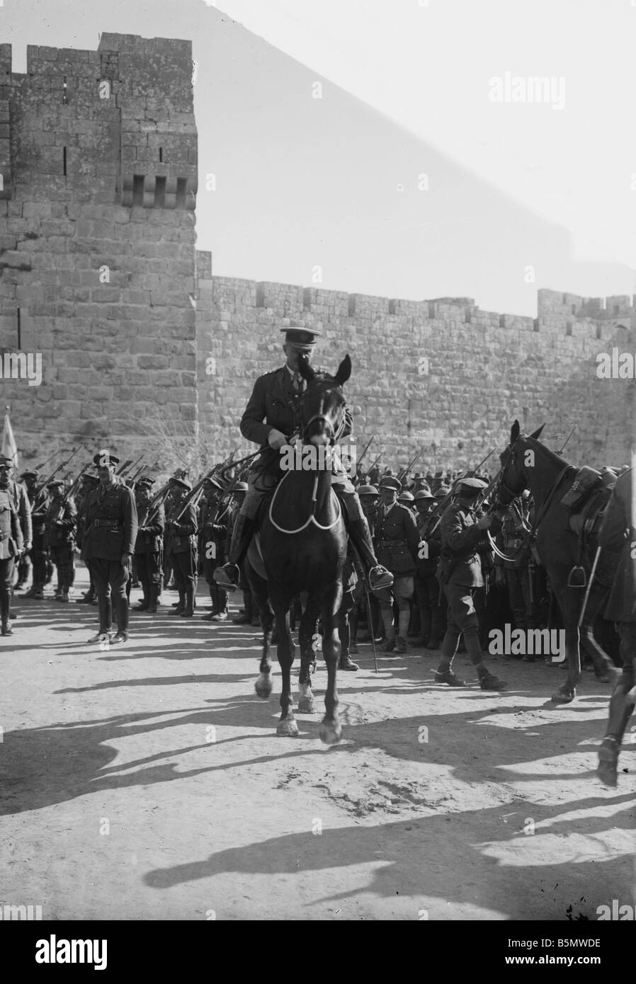 9IS 1917 12 11 A1 WW I Capture of Jerusalem by Britain World War I Turkish British fights Capture of Jerusalem by - Stock Image
