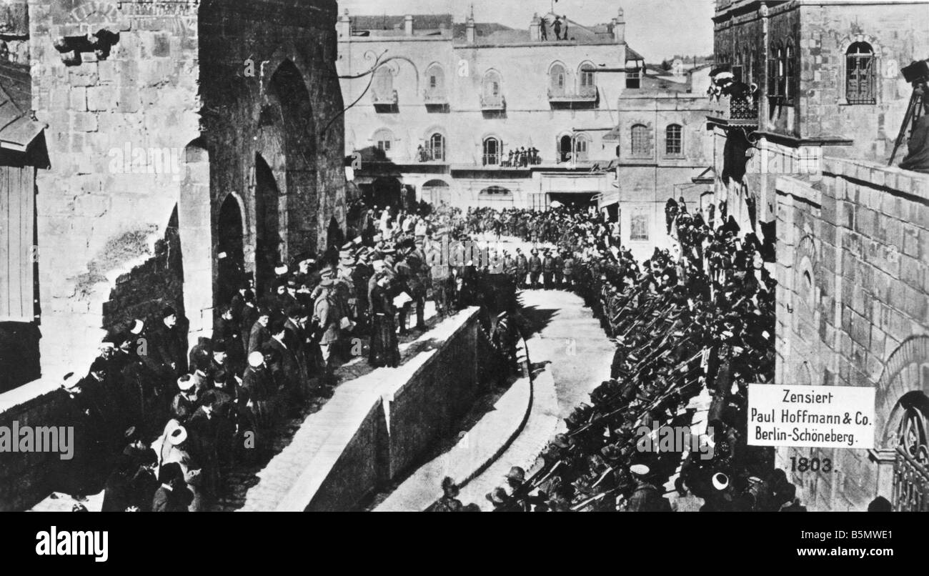 9IS 1917 12 9 A1 WW1 Capture of Jerusalem by Britain World War 1 Turkish British battles Capture of Jerusalem by - Stock Image