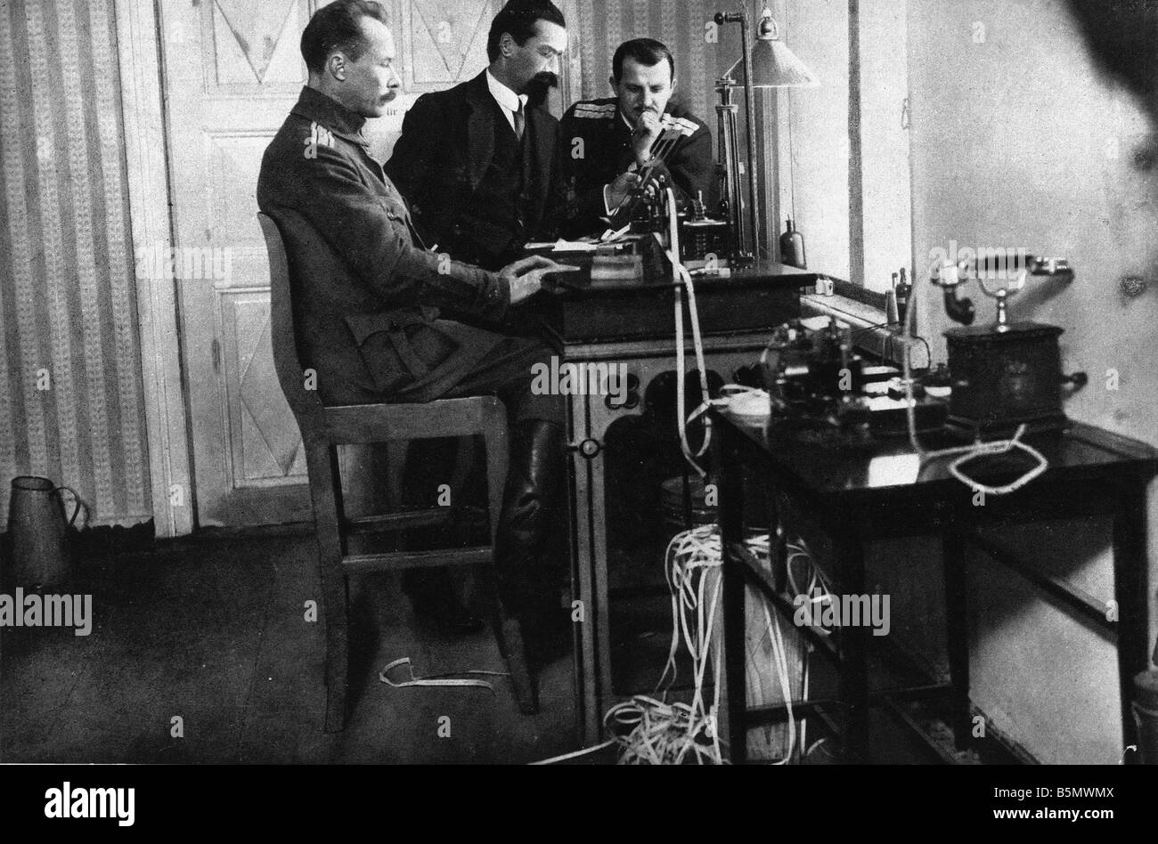 9RD 1917 12 15 A1 2 Brest Litovsk Russian telex 1917 Great War 1914 18 Armistice of Brest Litovsk between Russia - Stock Image