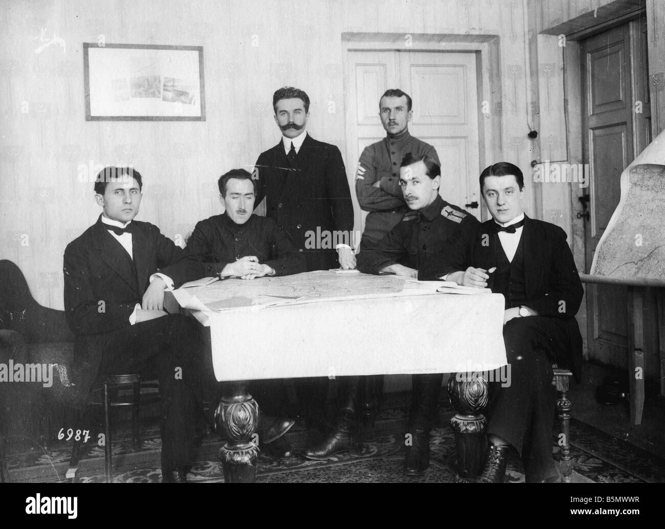 9RD 1918 2 9 A1 Ukrainian Delegation 1918 1 Weltkrieg 1914 18 Peace negotiations in Brest Litowsk and separate peace - Stock Image