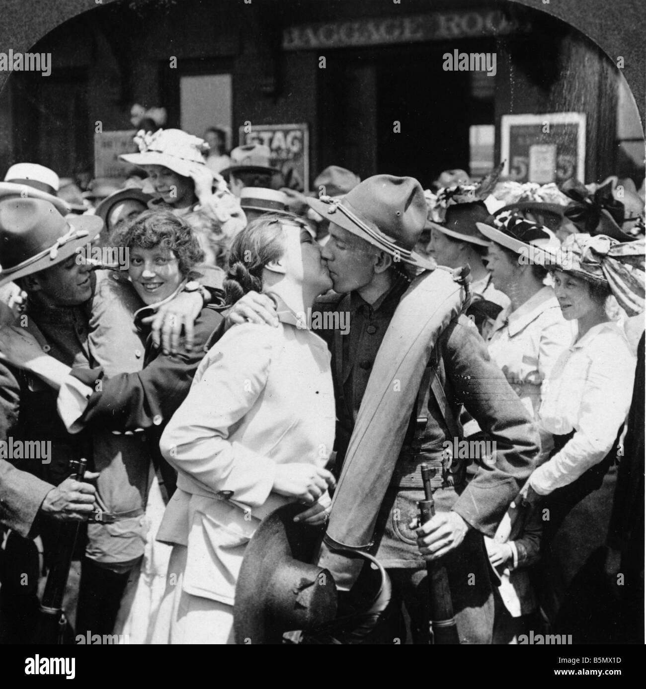 9US 1917 4 6 A1 1 Love Bids Him Stay USA 1917 World War One USA US  declaration of war on Germany 6 April 1917 Love Bids Him Stay