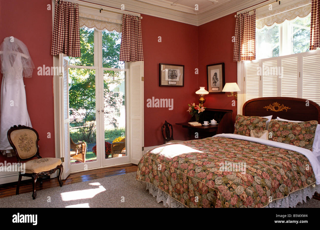 Bedroom in Luxury B&B with French Doors and Private Porch ...