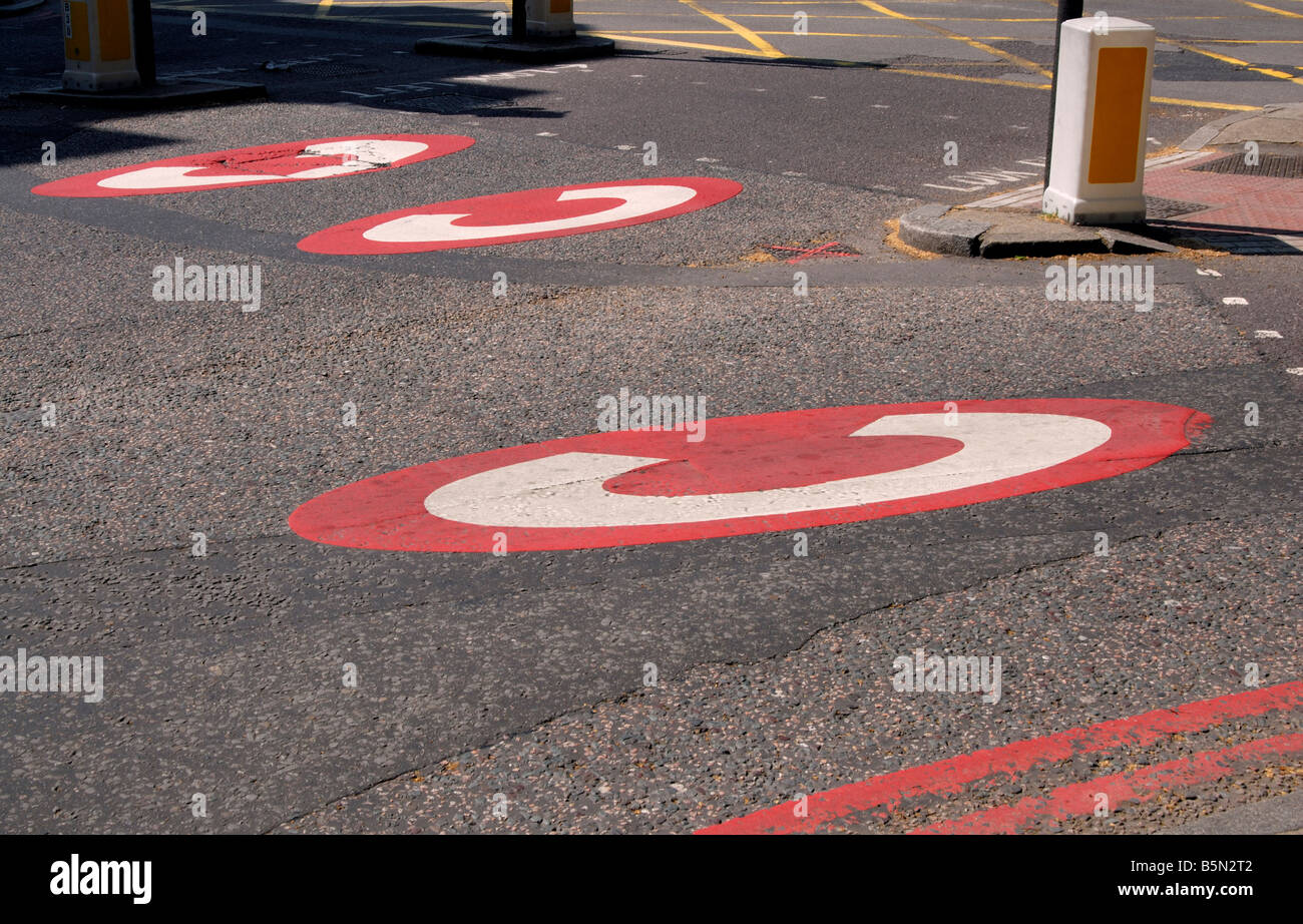 Central London congestion charge road markings, Euston Road, London, England, Great Britain, United Kingdom, Europe - Stock Image