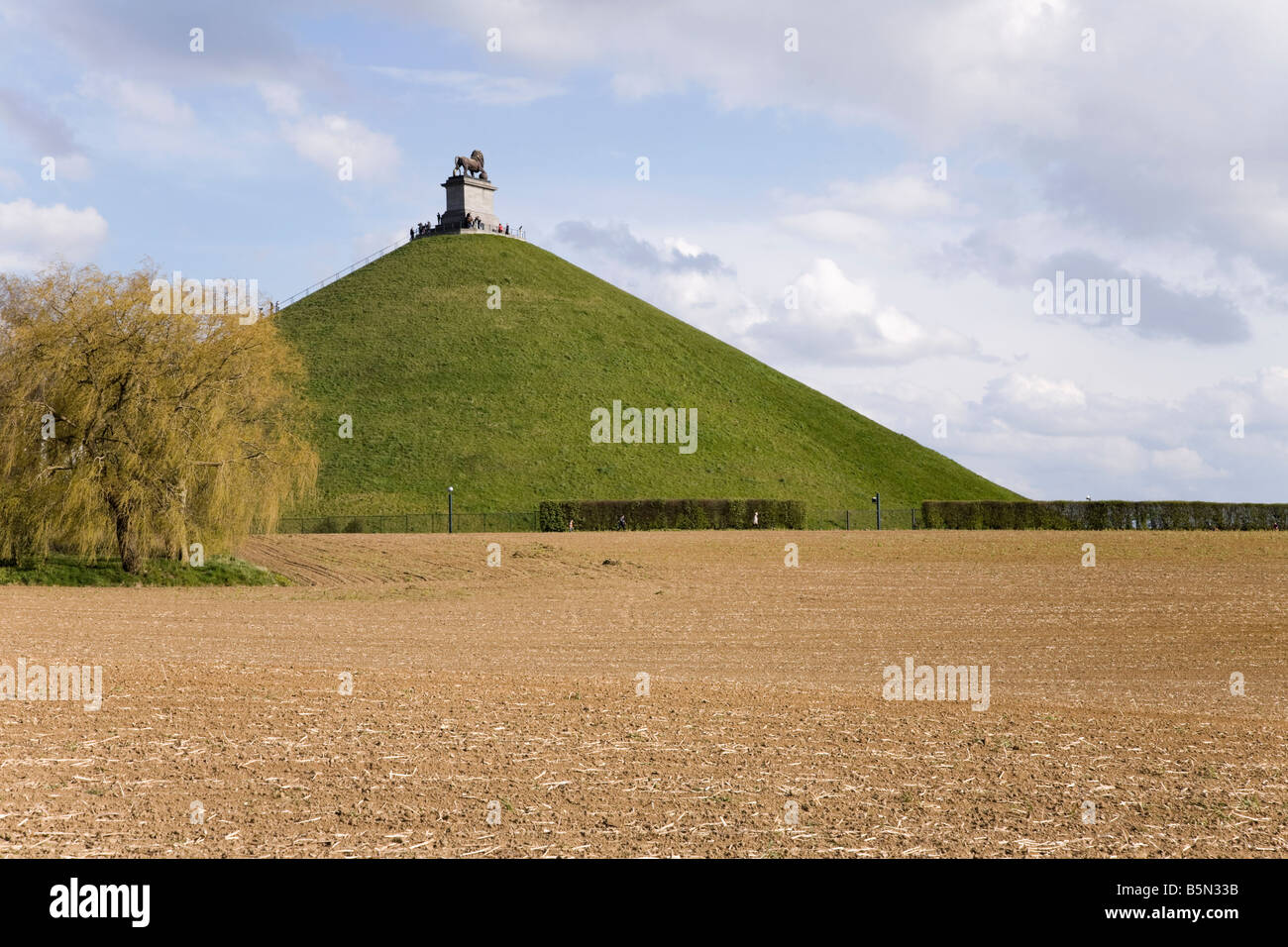 Battlefield of Waterloo in front of the Lion's Mound hill ( Butte du Lion's). Waterloo. Belgium. (43) - Stock Image