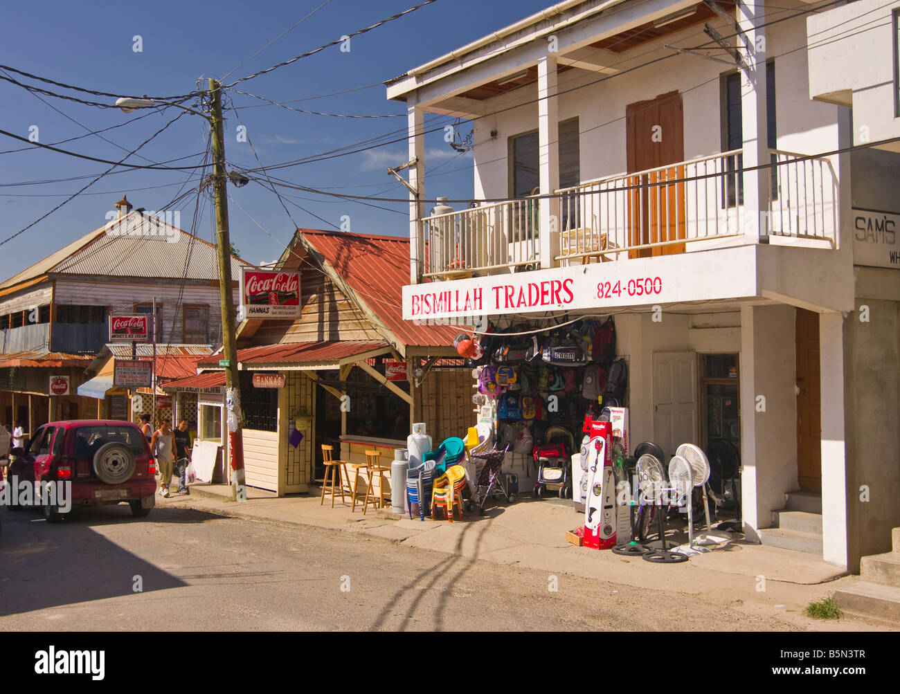 SAN IGNACIO BELIZE Shops and street - Stock Image