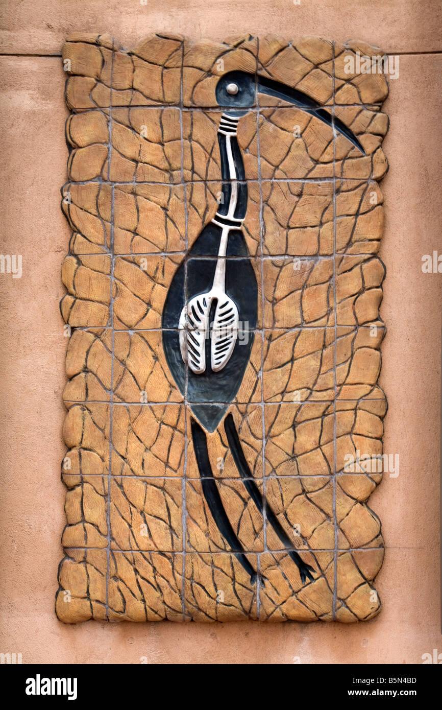 Aboriginal Native Bird Depicted On Ceramic Tiles Adelaide Australia