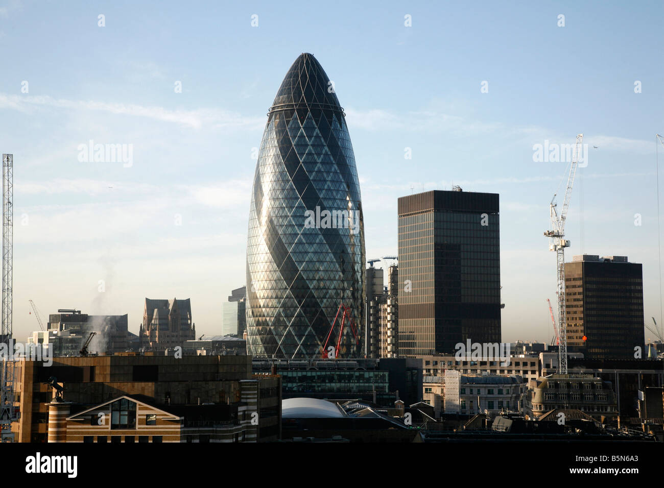 The Gherkin, City of London - Stock Image
