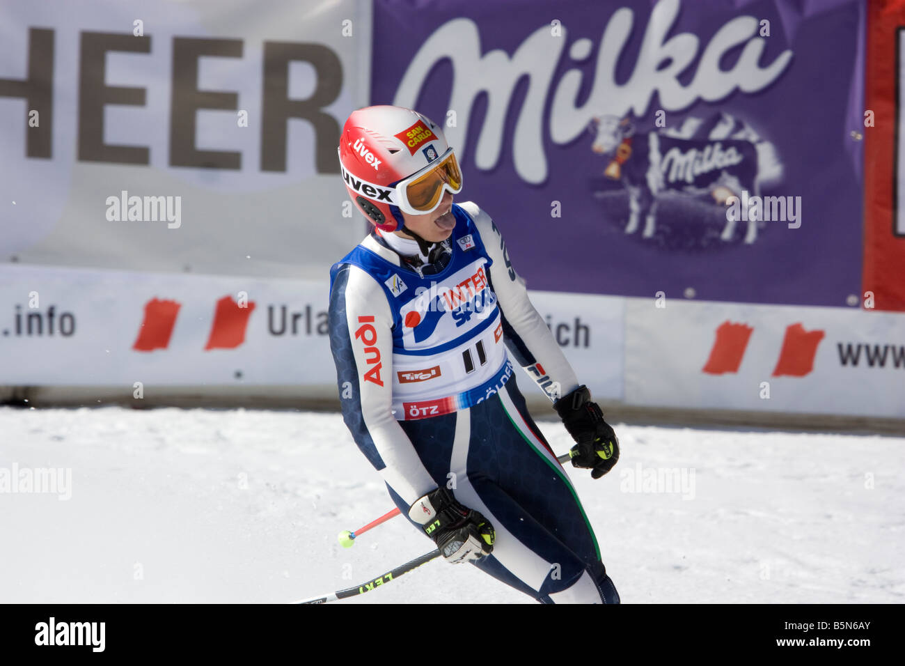 SOELDEN AUSTRIA OCT 25 Nicole Guise ITA competing in the womens giant slalom race at the Rettenbach Glacier - Stock Image
