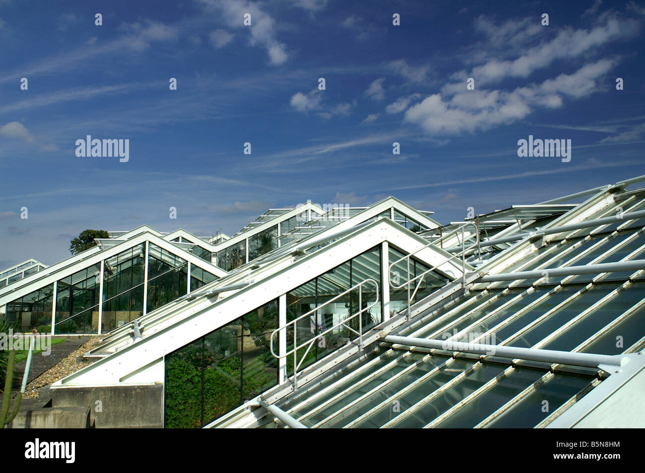 glasshouses in England - Stock Image