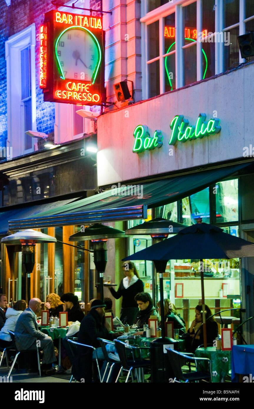 Bar Italia in Soho in London - Stock Image