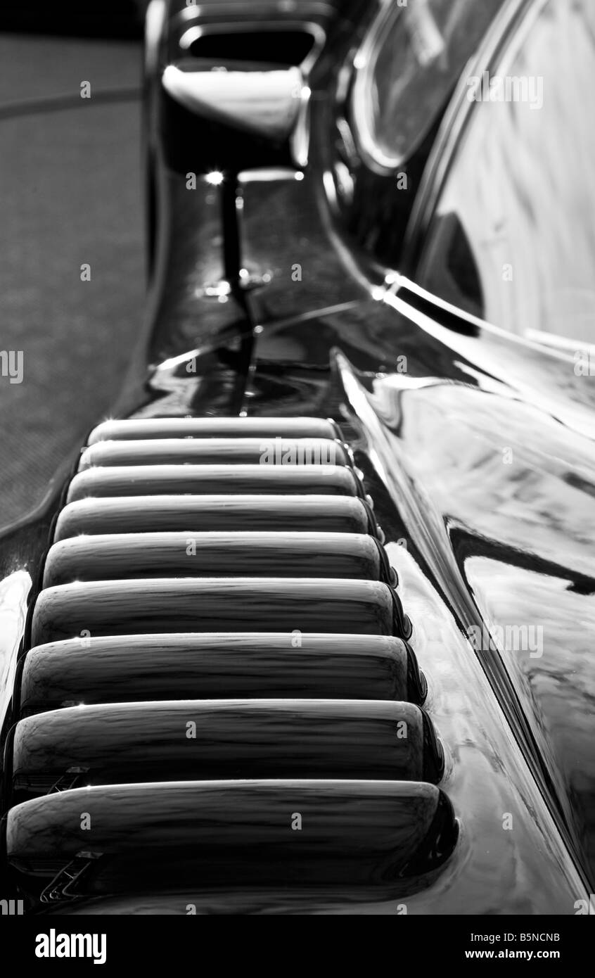 2007 Maserati MC12 detail close-up of the front wing at Goodwood Festival of Speed, Sussex, UK. - Stock Image