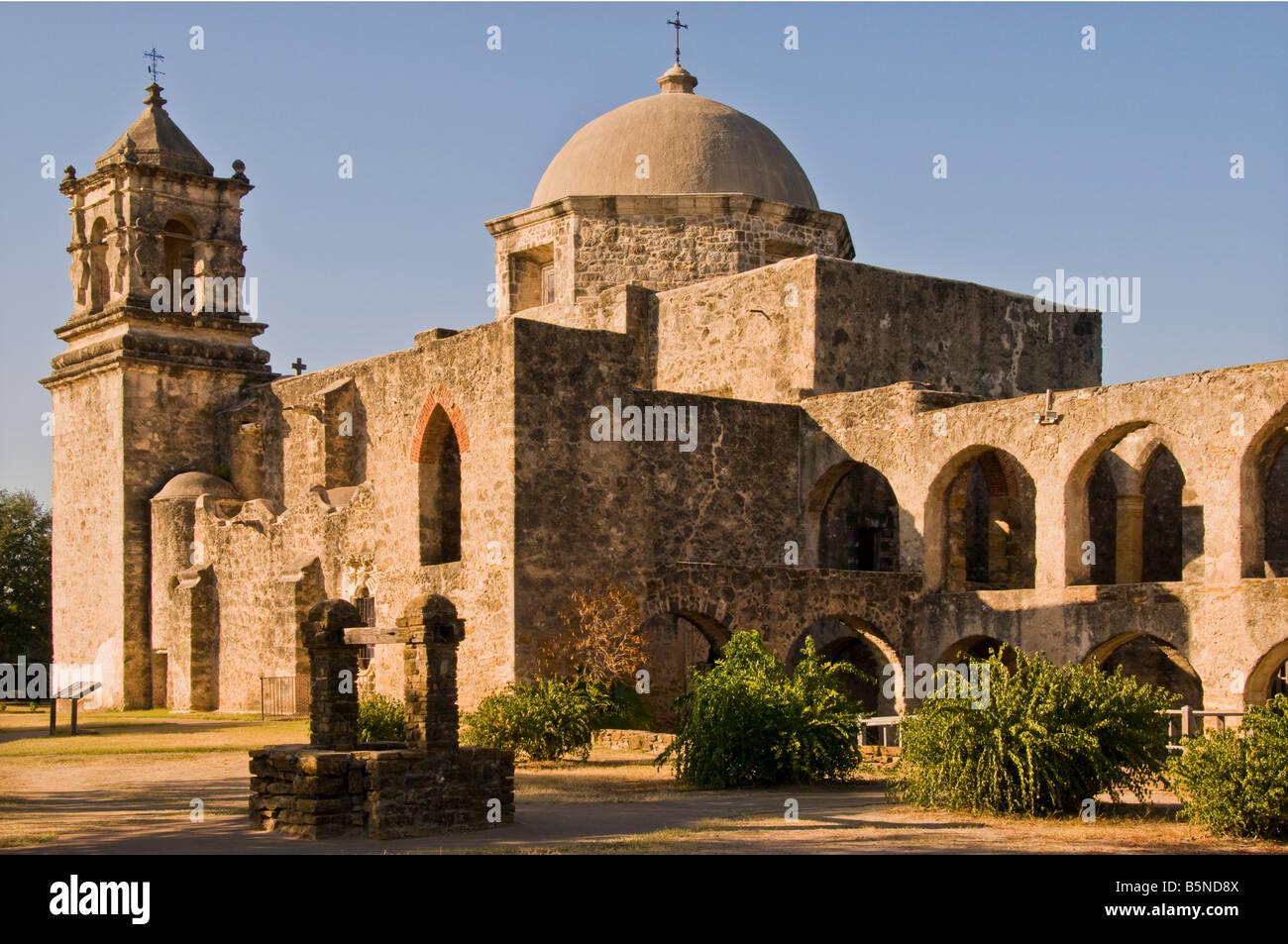 Mission San Jose, San Antonio, Texas. - Stock Image