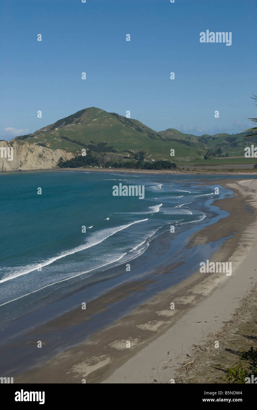 Tolaga bay beach on the North island of New-Zealand. - Stock Image