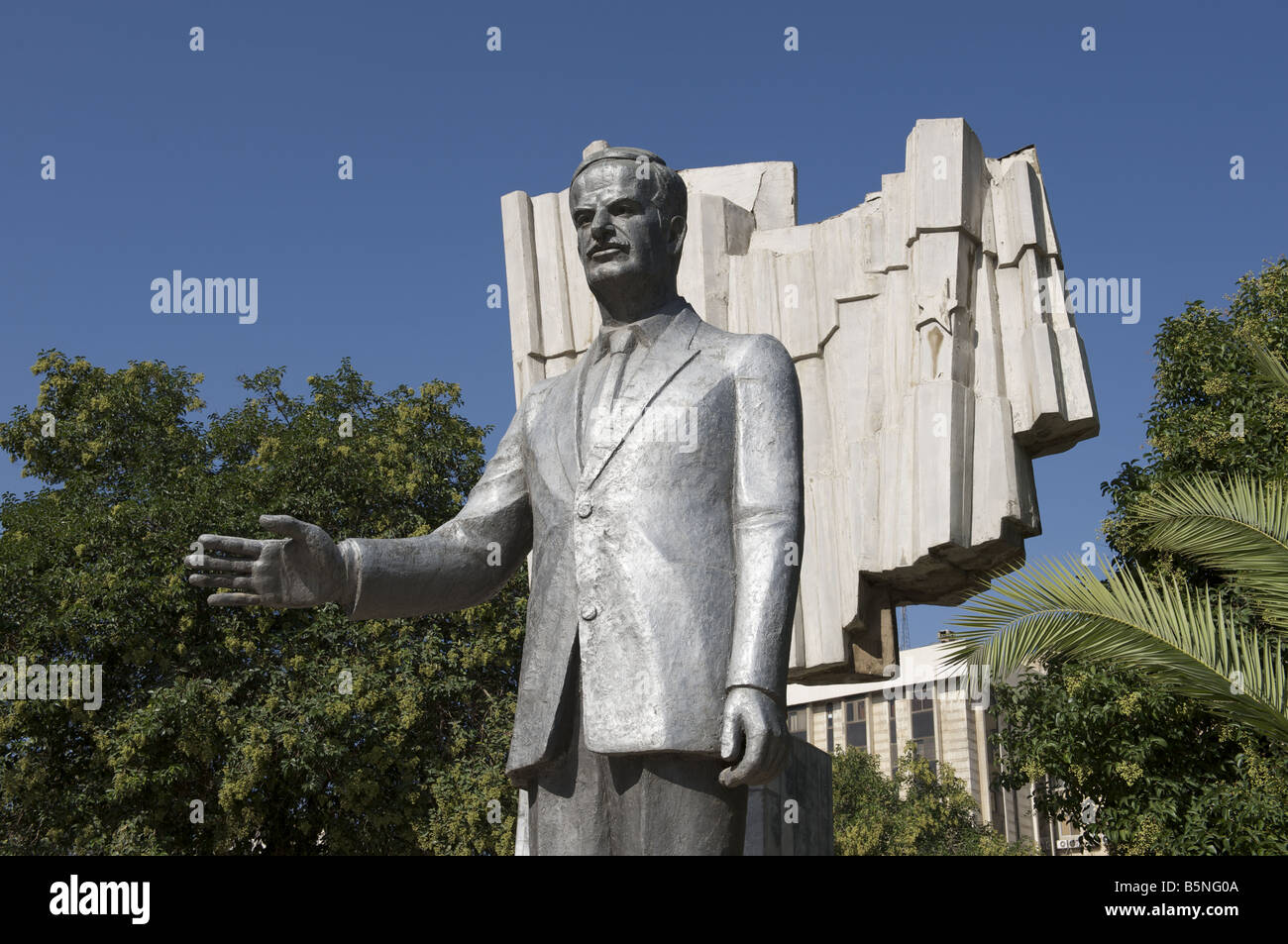 Statue of Hafez al Assad late President of Syria - Stock Image