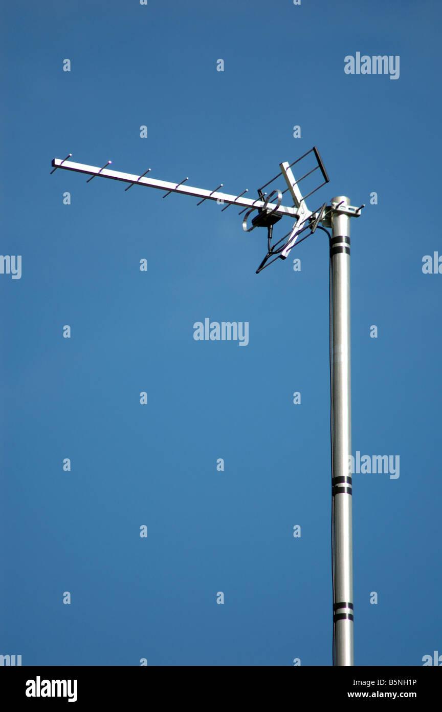 new digital TV aerial, UK - Stock Image