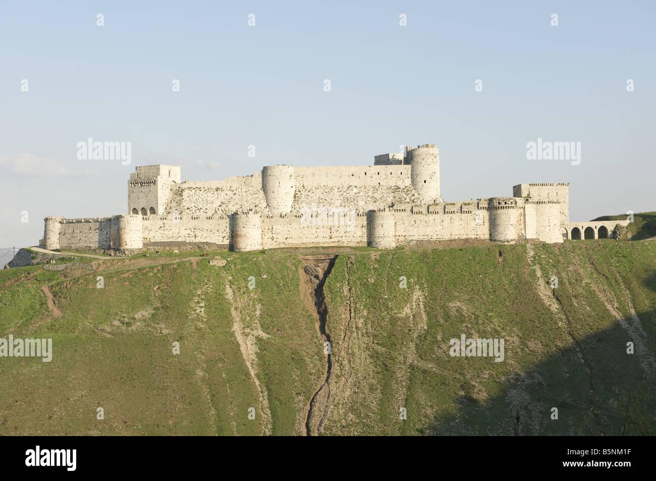 Krak Des Chevaliers, Syria, Qalaat Al Hosn - Stock Image