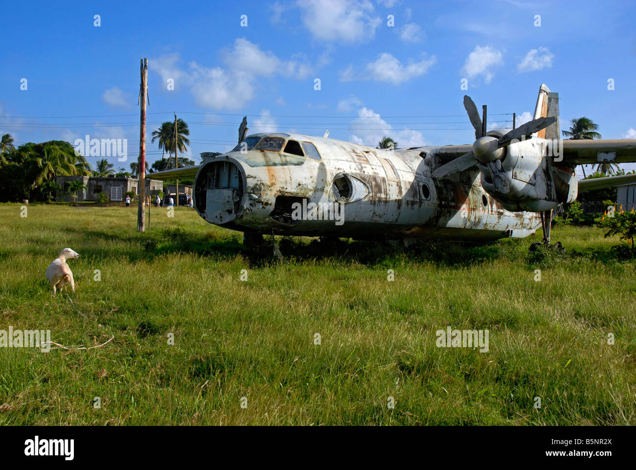 """Abandoned plane, Pearls Airport, Grenada, """"West Indies"""" Stock Photo"""