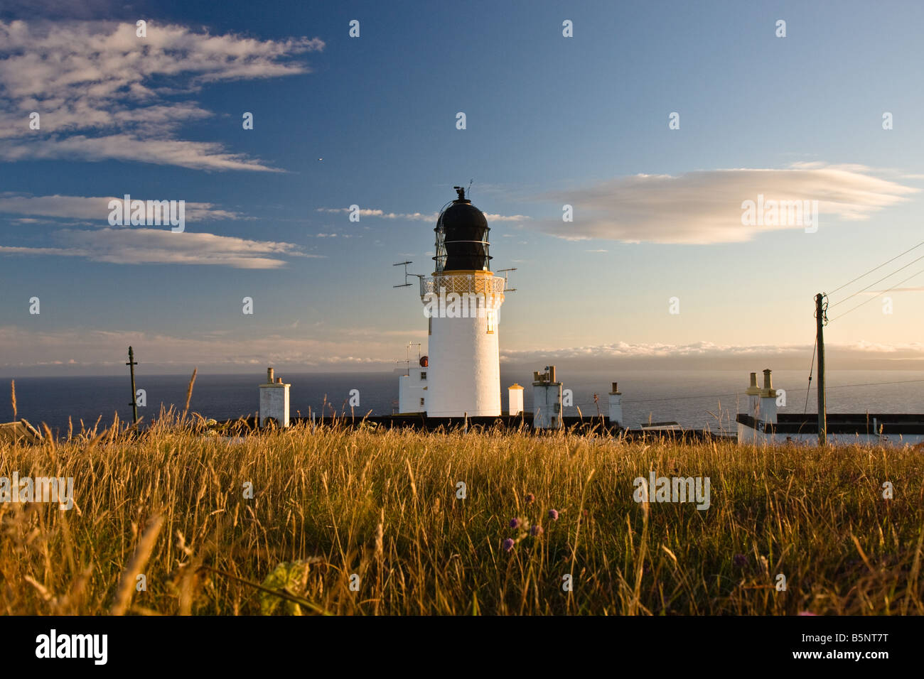 Dunnet point lighthouse - Stock Image
