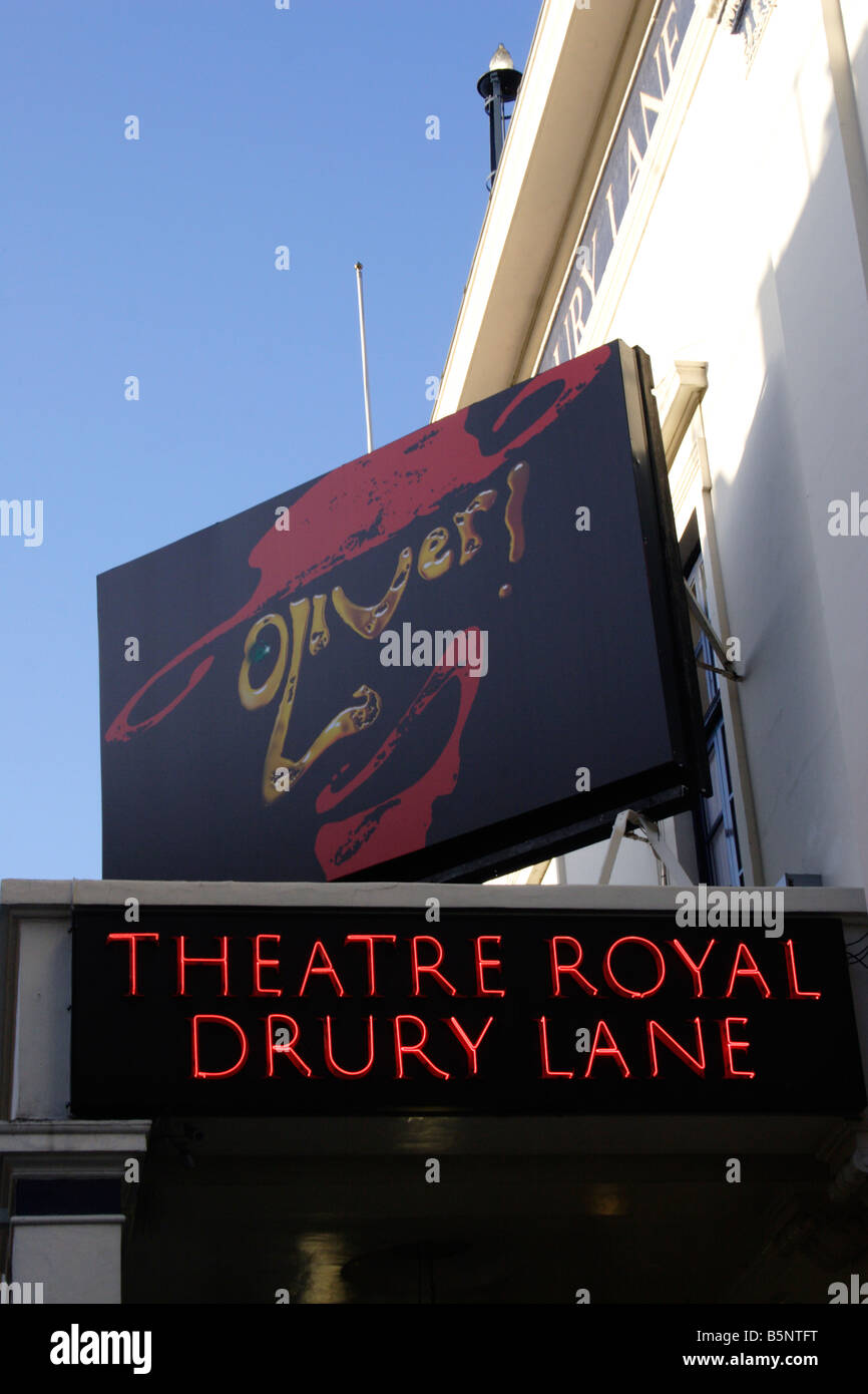 Theatre Royal Drury Lane London November 2008 - Stock Image