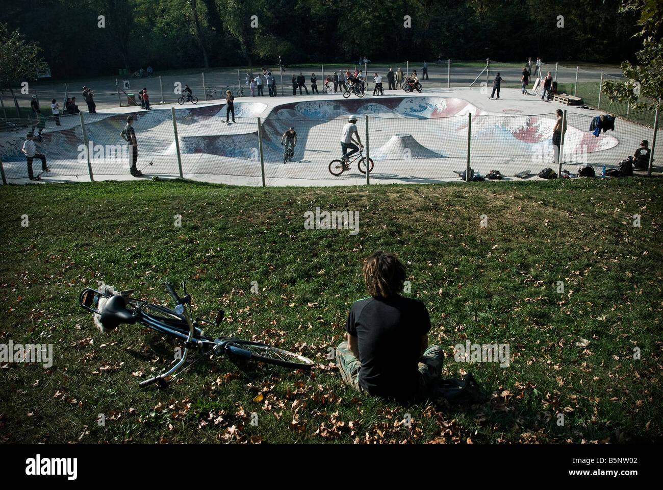 Skate park. - Stock Image
