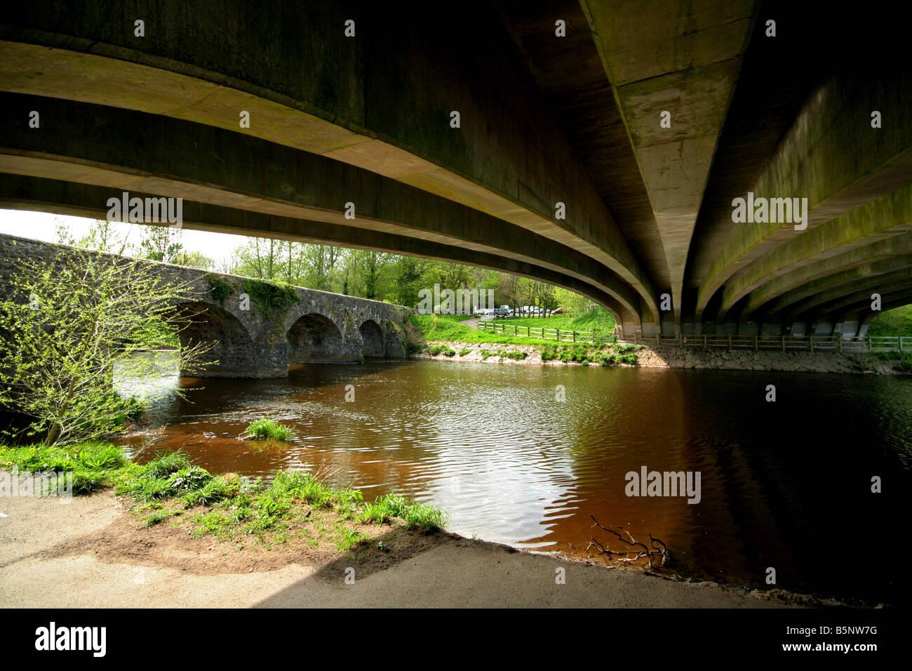 Shaws Bridge and the new bridge over the River Lagan near Belfast ...