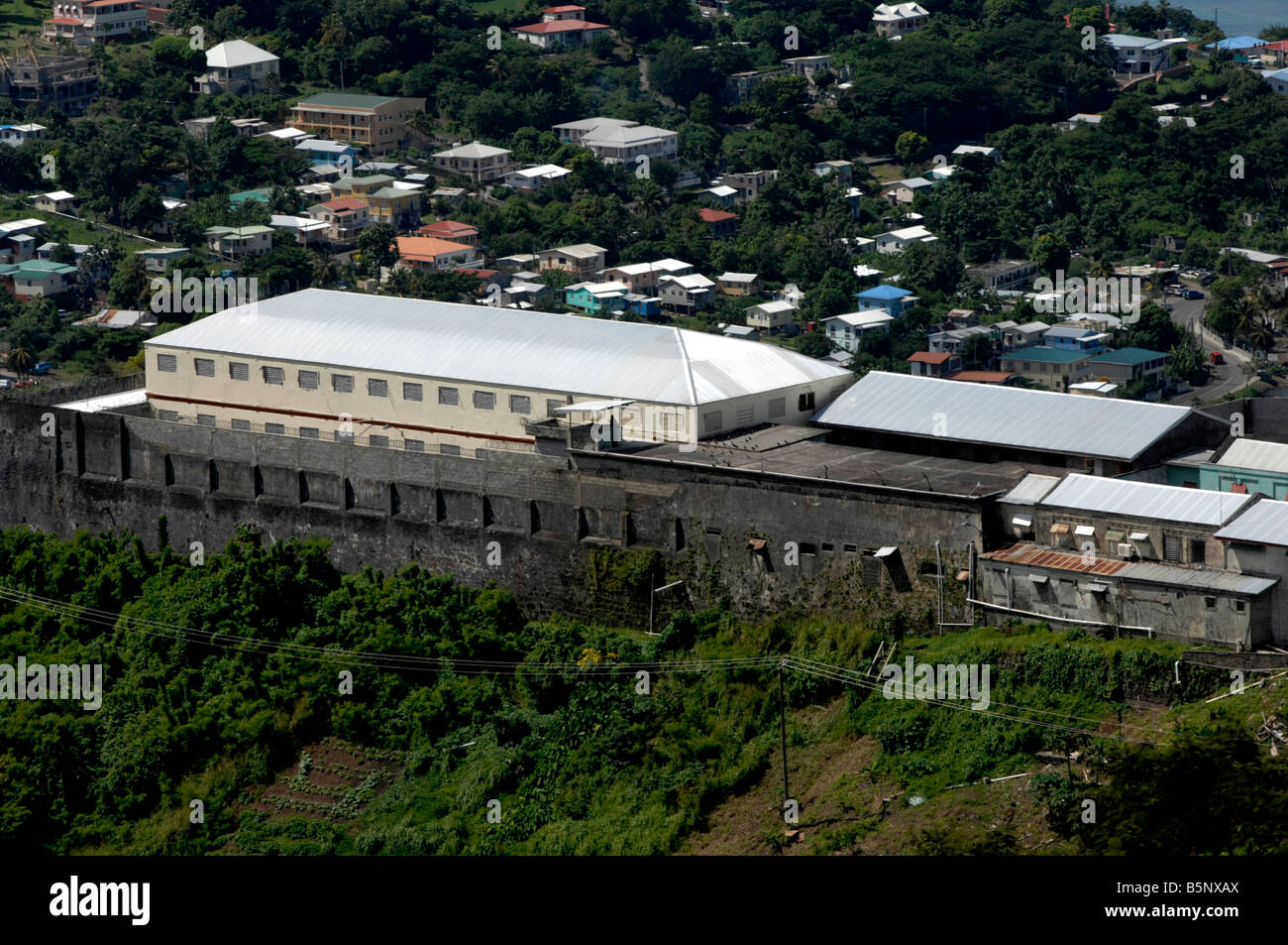 Richmond Hill Prison, the main prison in Grenada 'West Indies' - Stock Image